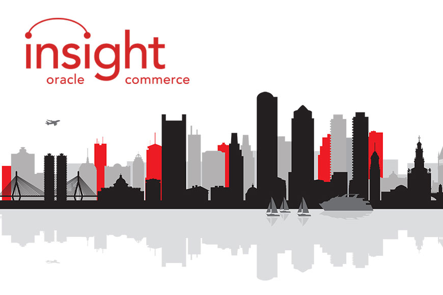 Boston skyline with the Spark::red Insight logo